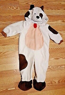 Puppy Dog Costume One Piece Plush Halloween Brown & Cream Infant Size 12-24M
