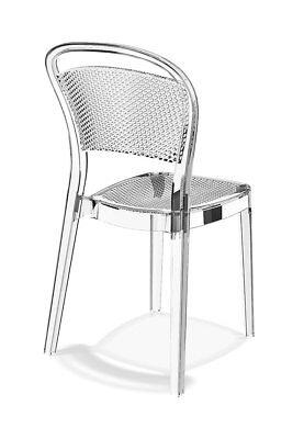 Ghost Acryl Plexiglas Stuhl BEEZE inspiriert durch die Waben der Honigbiene.Neu.
