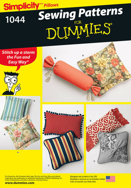 Simplicity SEWING PATTERN For Dummies 1044 Pillows/Cushions,Easy To Sew