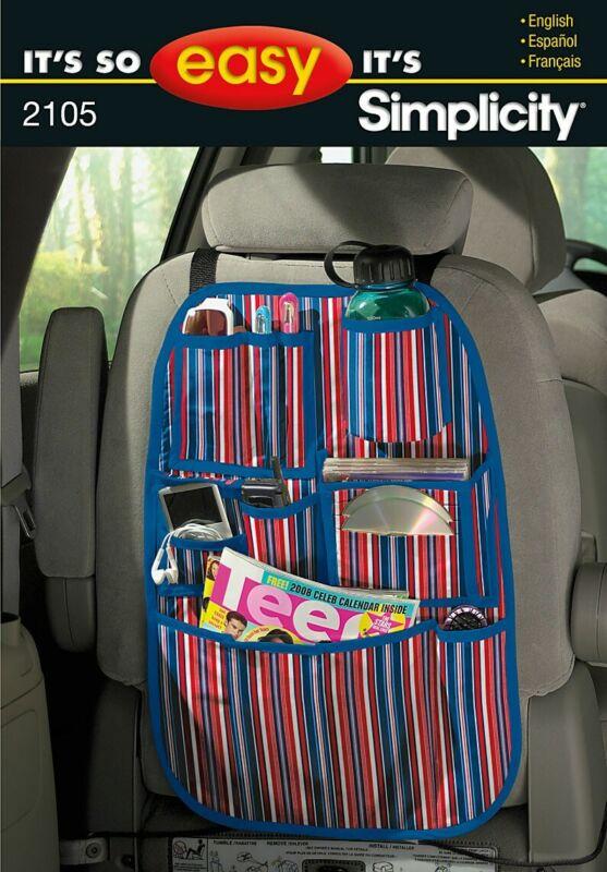 Simplicity+Sewing+Pattern+2105+Car+organiser+Behind+Seat+Uncut.+