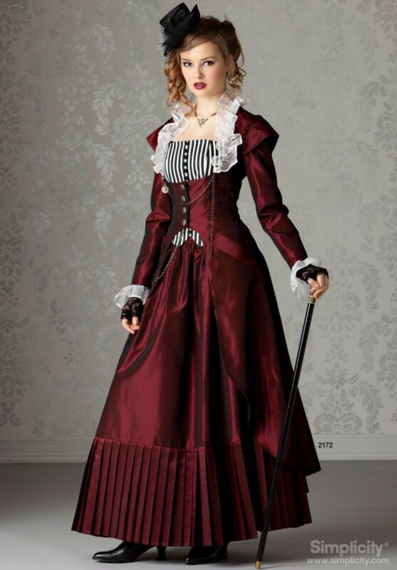 1800s custom handmade steam punk victorian gown