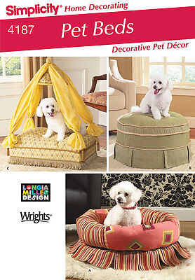 Sew & Make Simplicity 4187 SEWING PATTERN - Dog Pet FURNITURE CANOPY TUFFET BEDS