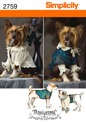 Sew & Make Simplicity 2759 SEWING PATTERN - Gothic Medieval Dog Clothes COSTUMES