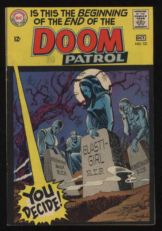 Doom Patrol #121 VF- 7.5 OW/W Pgs Last Issue DC Comics