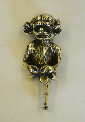 Good Sized Solid Brass Vintage Lincoln Imp Door Knocker. Cleaned & Repolished.