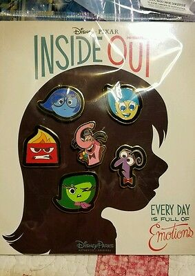Disney Pins Inside Out Booster Set  6 Pin Set  Free Shipping