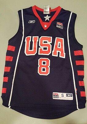 Carmelo Anthony Usa Jersey (Carmelo Anthony Reebok Team USA Olympic Jersey #8 Stitched Size Youth Small (8) )