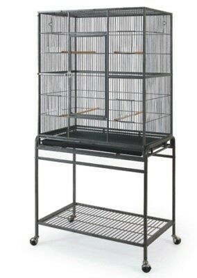 36in Tall Large Bird/ Pet Cage W/ Door and Rolling Stand Large Birds and Small