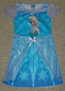 Disney frozen elsa nightgown pajamas size s 5 6 m 7 8 new in package