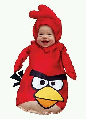 Angry Birds NEW Adorable Red Bird Infant Costume fits size 0-9 months