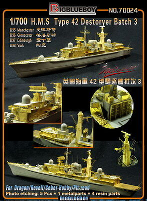 Photo-Etched PE 1/700 H.M.S Type 42 Destoryer Batch 3 (for Dragon)  70024