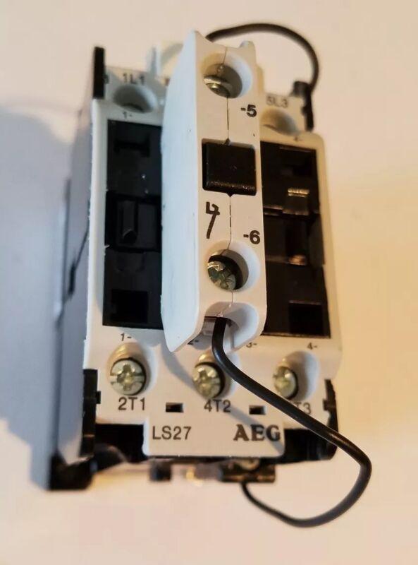 AEG EE Controls LS27-NTW 24 vdc contactor 10 hp 230v, 15 hp 460 v