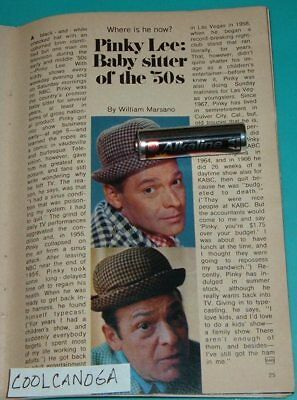 1971 TV FASHION ARTICLE~PINKY LEE BABYSITTER OF THE 1950'S~CHILDREN'S SHOW HOST
