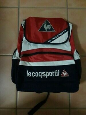 NEW LE COQ SPORTIF BACKPACK UNISEX BLUE/RED/WHITE