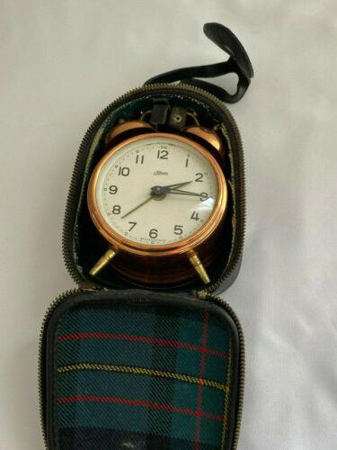 Vintage Kaiser Travel Alarm Clock w/ Case Works