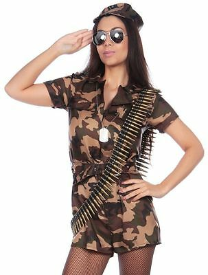 Sexy Womens Army Girl Costume Combat Chick Ladies - Combat Girl Kostüme