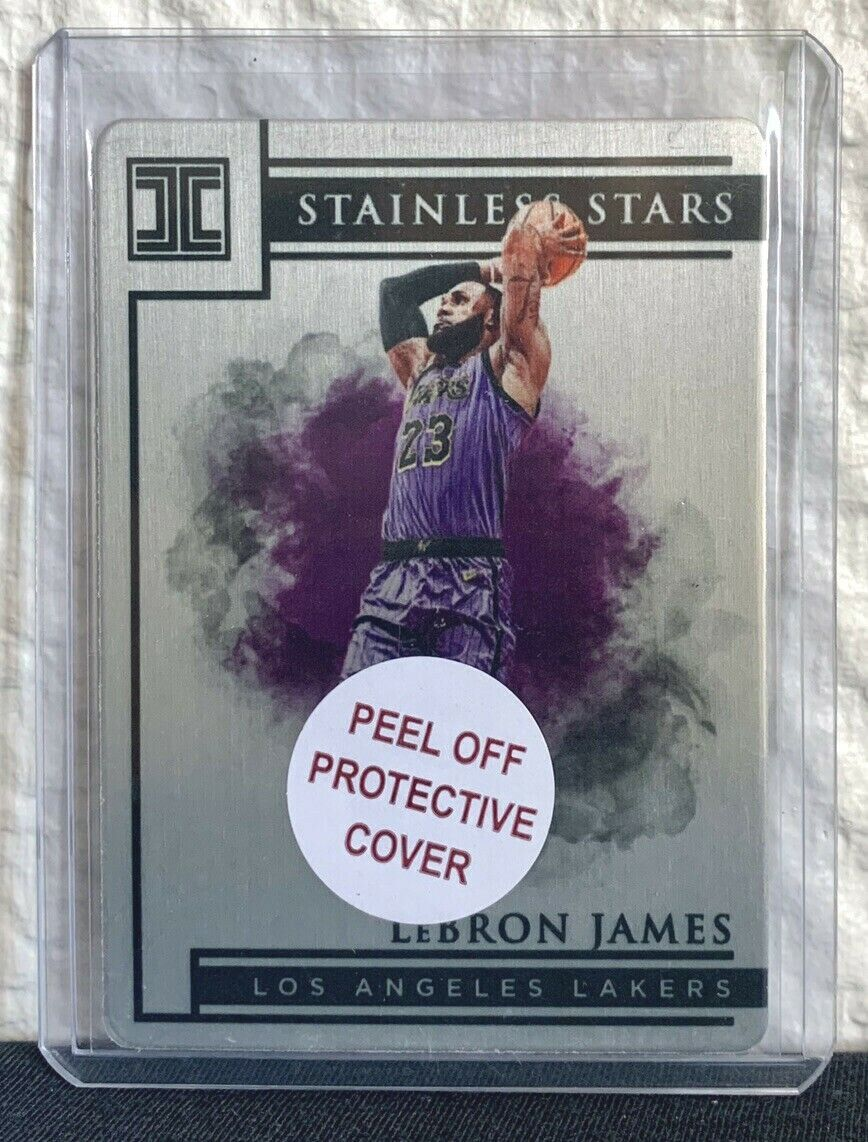 2019-20 panini impeccable stainless stars #17 lebron james 81/99