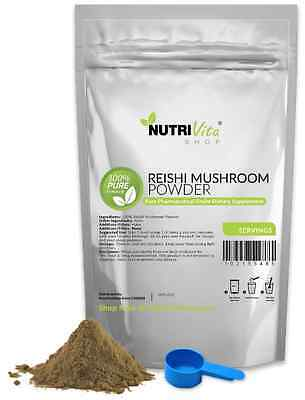 2500g (5.5lb) NEW 100% PURE REISHI MUSHROOM POWDER DETOX ORGANIC GROWN