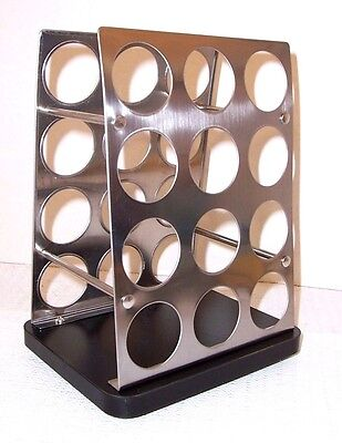 Kamenstein Revolving Stainless 24 K  Cup Coffee Pod Caddy Lifetime Brands Euc
