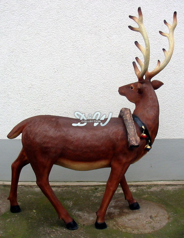 elch rentier longhorn deko garten tier figur weihnachten weihnachtsdeko advent eur 399 00. Black Bedroom Furniture Sets. Home Design Ideas