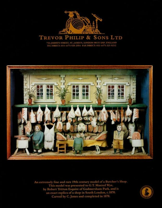 Wood Carving C. Jones Replica South London Butcher Shop 1995 Art Gallery AD