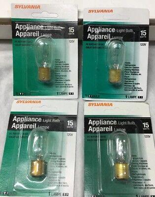 - Sylvania 15T7DC #18200 Appliance Microwave Light Bulb Ba15d Bayonet Base 4-pcs