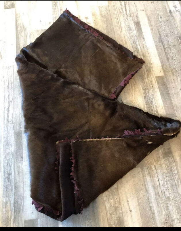 Vintage Horse Hair Carriage Lap Blanket Throw Albert Furs