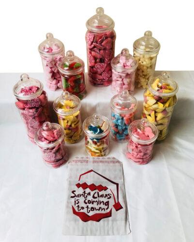 Candy+Buffet+Party+Kit+Plastic+Sweet+Jar+-+12+Jars+%26+50+Bags+Christmas+Wedding