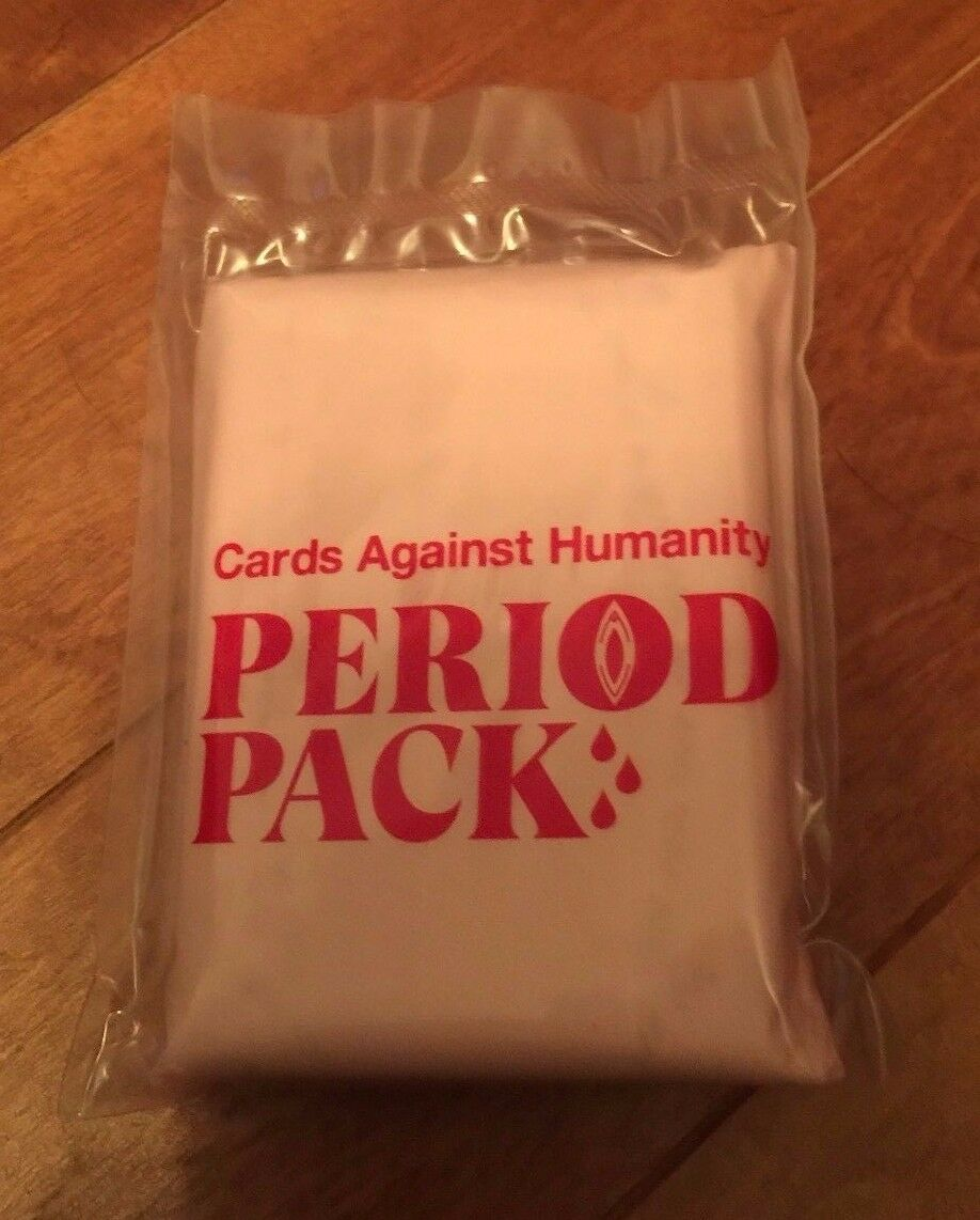 Cards Against Humanity Period Pack Sealed New Limited Edition 30 Cards Expansion