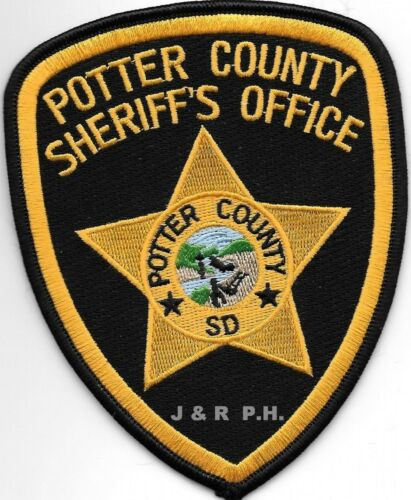 "Potter County Sheriff, SD  (4"" x 5"" size) shoulder police patch (fire)"