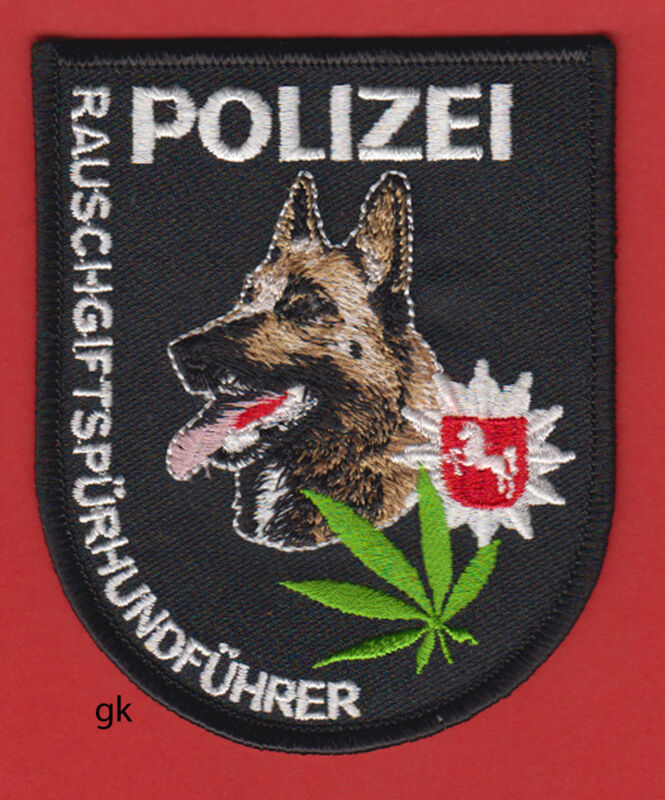 GERMAN SHEPHERD MARIJUANA K9 POLICE DRUG UNIT PATCH GERMANY SHOULDER PATCH