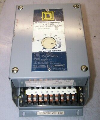 Square D Ground Fault Relay 600 Vac 50 Amp Model Gc-100