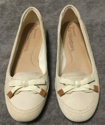 NWOT Timberland Earthkeepers Leather Suede Ivory Loafers Shoes Women Size 7.5
