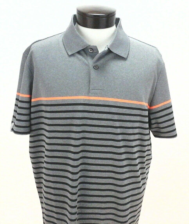 Rlx Ralph Lauren Sp17 Wicking Golf Polo Sport Shirt Gray Bk Sz L