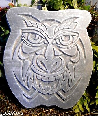 Plastic tropical tiki open mouth face plaque mold garden ornament mold