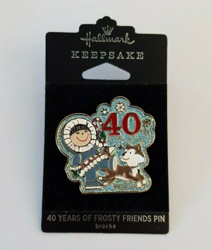 2019 HALLMARK 40 Years of FROSTY FRIENDS Collectible Limited Pin Eskimo Siberian