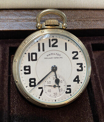 Hamilton 992B 21 Jewel Railroad Pocket Watch 16 size OF 1951