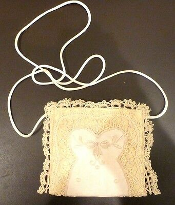 Childs Handmade Linen Purse Girls Small Off White Rendezvous Inc New Orleans