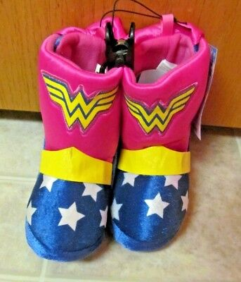 WONDER WOMAN Plush Boot~ Toddler slippers Size LARGE (9-10)~NEW with tags