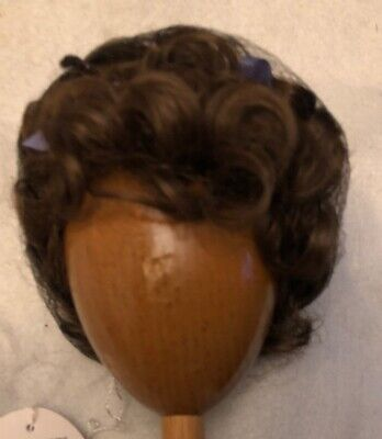 Brown Curls (NEW DOLL WIG Style VICKIE Size 10-11 Color Light Brown Curls & High)