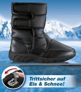 SUPER-STIVALI-TERMICI-artigli-ghiaccio-Spikes-Stivali-invernali-Stivali-da-neve
