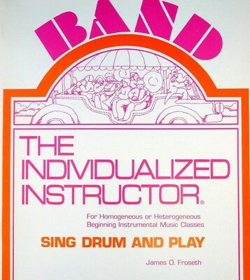 """THE INDIVIDUALIZED INSTRUCTOR """"BASS CLARINET"""" SING DRUM AND PLAY MUSIC BOOK 1"""