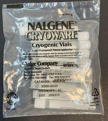 Nalgene 5000-0050 Cryoware Cryogenic Vials 5 Ml 10pk Factory Sealed Sterile