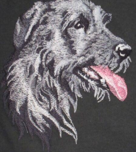 Embroidered Ladies Short-Sleeved T-Shirt - Irish Wolfhound BT3590