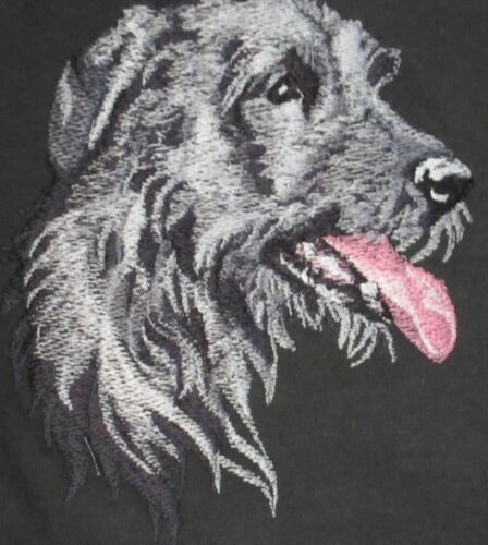 Embroidered Short-Sleeved T-Shirt - Irish Wolfhound BT3590 Sizes S - XXL