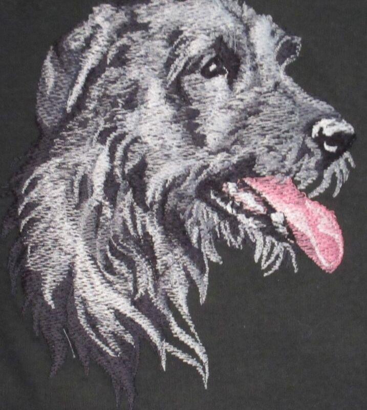Large Embroidered Zippered Tote - Irish Wolfhound BT3590