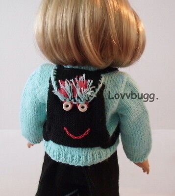 "Lovvbugg Sweater Backpack Shorts for 18"" American Girl Doll Clothes"