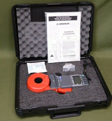 Greenlee Cmgrt-100 Clamp-on Ground Resistance Tester With Hard Case Nib