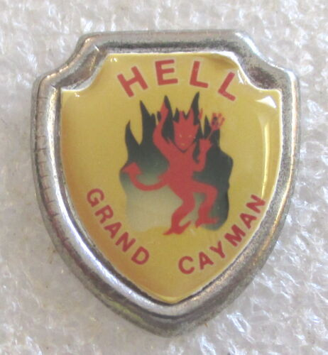 Hell, Grand Cayman Tourist Travel Souvenir Pin - Caribbean Islands