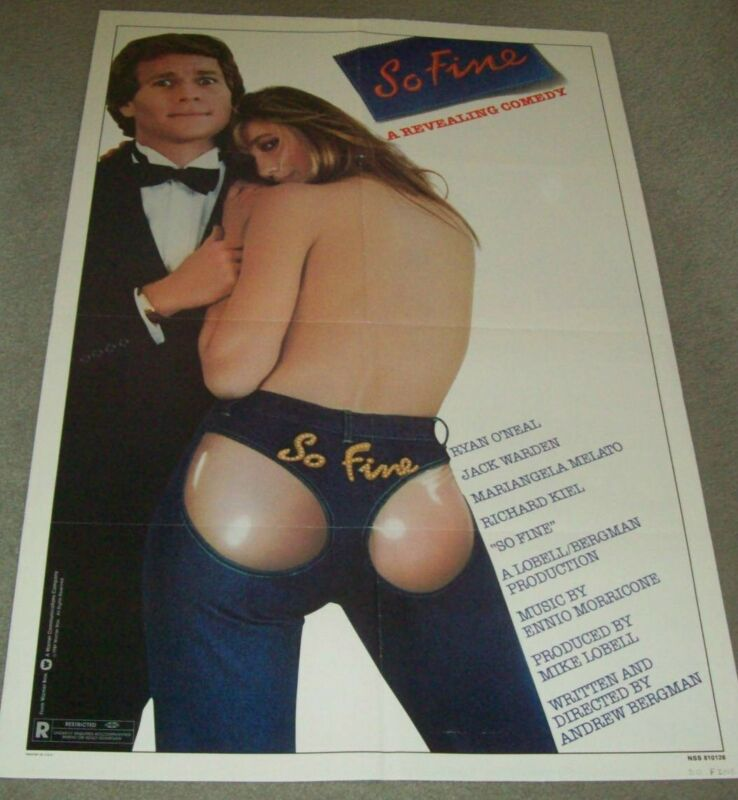 "AUTHENTIC ADVERTISING POSTER FOR 1981 FILM, ""SO FINE"" ......"